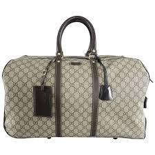 gucci black canvas garment carrier bag travel hobo shape suit