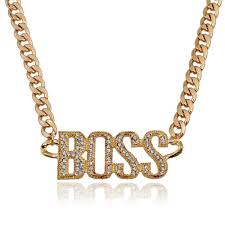 trendy gold chain necklace images 18k gold silver chain necklace trendy quot boss quot letter kurly girl jpg