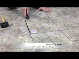 Basement Floor Tiles Basement Flooring Basement Floor Tiles Modutile Youtube