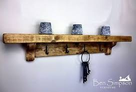 chunky rustic wooden coat rack shelf shelves coat stand clothes