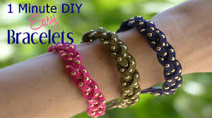 1 minute diy crafts super easy diy bracelets youtube