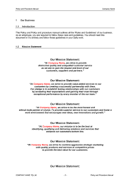 procedure manual template digital documents direct