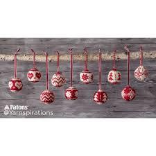 patons merry fair isle knit ornaments knit pattern yarnspirations