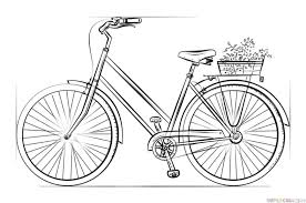 how to draw coloring pages how to draw a bicycle step by step drawing tutorials