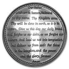 1 oz silver round lord u0027s prayer religious silver bars