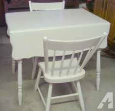 White Drop Leaf Table And Chairs Antique Drop Leaf Table W Two Chairs Off White Middleburg Pa