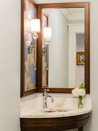corner bathroom mirror corner sinks with mirror smart alternative for space saving