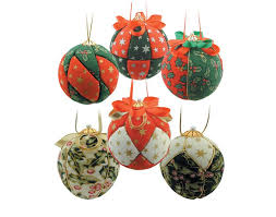 6 christmas fabric covered baubles craft kit adults christmas