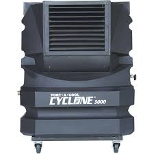 home theater cooling port a cool cyclone 3000 portable evaporative cooling unit black