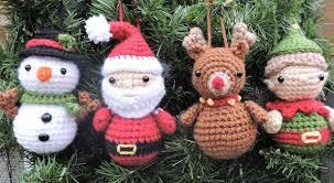 amigurumi santa and friends ornaments crochet pattern