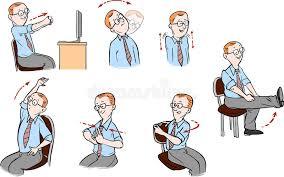 exercice au bureau bureau exercice illustration de vecteur illustration du bureau