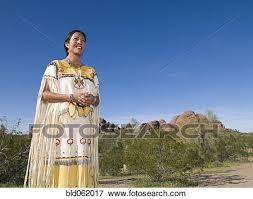 picture of native american woman in traditional clothing bld062017