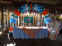 party supplies miami miami dolphins arch balloons www fourjparty miami dolphins