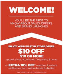 offer from jcpenney 10 10 purchase saving toward a