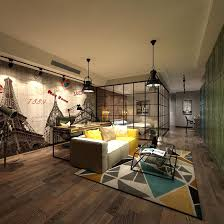 contemporary living room design full model 3d model max