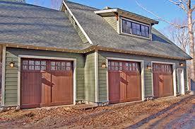 craftsman style garages wood garage doors wooden overhead door paint grade garage doors