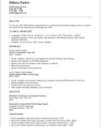 System Administrator Resume Example by Resume Format Sysadmin Resume Ixiplay Free Resume Samples