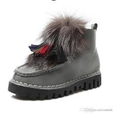 s boots with fur s fox fur boots low genuine leather