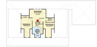 Game Room Floor Plans Country House Plan With Upstairs Game Room 28909jj