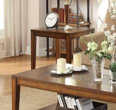 End Table With Shelves by Homelegance Antoni End Table With Shelf Warm Brown Cherry 3504