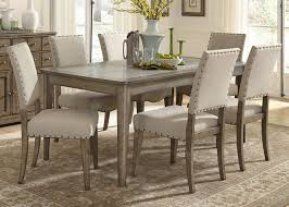 casual rustic 7 piece dining table and chairs set by liberty