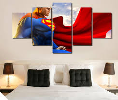 Bedroom Wall Art Sets Online Get Cheap Framed Wall Art Superman Aliexpress Com