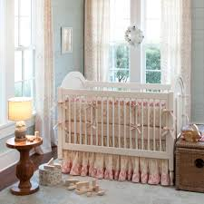 Pink And Brown Damask Crib Bedding Baby Nursery Bedding Decoration For Boys And