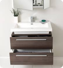 Modern Bathroom Cabinets Fresca Fvn8080go Medio 32 Gray Oak Modern Bathroom Vanity With