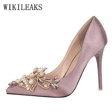 wedding shoes designer pearl designer satin bigtree shoes luxury brand wedding