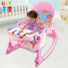 Withing Piano Toys Adjustable Intellect Baby Folding Rocker Chair