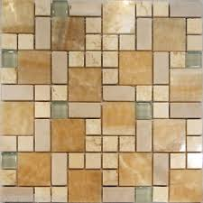 SFSquare Pattern Honey Onyx Crema Marfil  Glass Mosaic Tile - Onyx backsplash