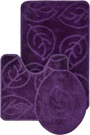 bath mats set leaf pattern design 3 bath mat rug set everyday special