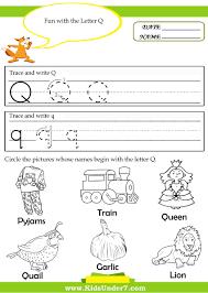 worksheet letter q activities for kindergarten wosenly free