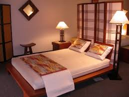zen bed solid wood with head board
