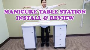 manicure nail table station best manicure nail table station install review youtube