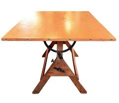 Antique Wood Drafting Table Hamilton Drafting Table Mid Century Modern Industrial