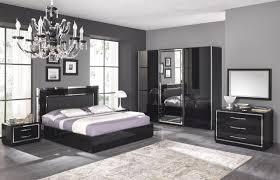 ensemble chambre à coucher adulte mina laque noir ensemble chambre coucher galerie avec chambre a