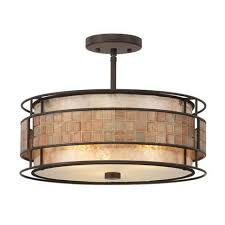 lights zoom craftsman flush mount ceiling light laguna mica semi