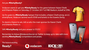 vodacom airtime vodacom last chance to enter and win a derbyready her news