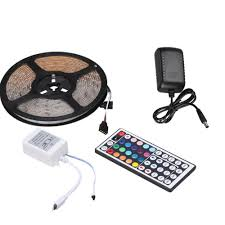 led strip lights remote 15ft waterproof led rgb strip light with remote control online