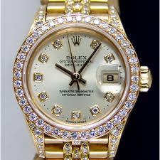 golden rolex rolex gold watch with diamonds gold watch diamantbilds