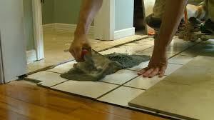 how to lay tile over a tile floor today u0027s homeowner