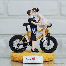 bicycle cake topper custom wedding cake topper bike mania gift