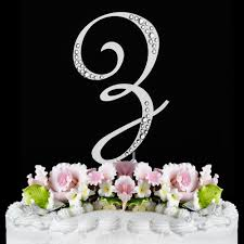 z cake topper z sparkle silver wf monogram wedding cake toppers