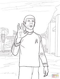 star trek spock coloring page free printable coloring pages