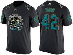 San Jose Sharks Flag Men Sharks Joel Ward Black Los Tiburones U0027 Night Name And Number T
