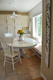 White Wood Dining Room Table by Chalk Paint Dining Table Makeover Little Vintage Nest