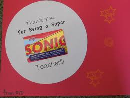 sonic gift cards sonic gift card for teachers crafts gift