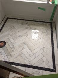 Herringbone Bathroom Floor by Idea For Ensuite Meredith Heron Design Bespoke Marble