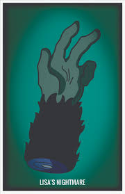 picture if you will ten treehouse of horror minimalist posters